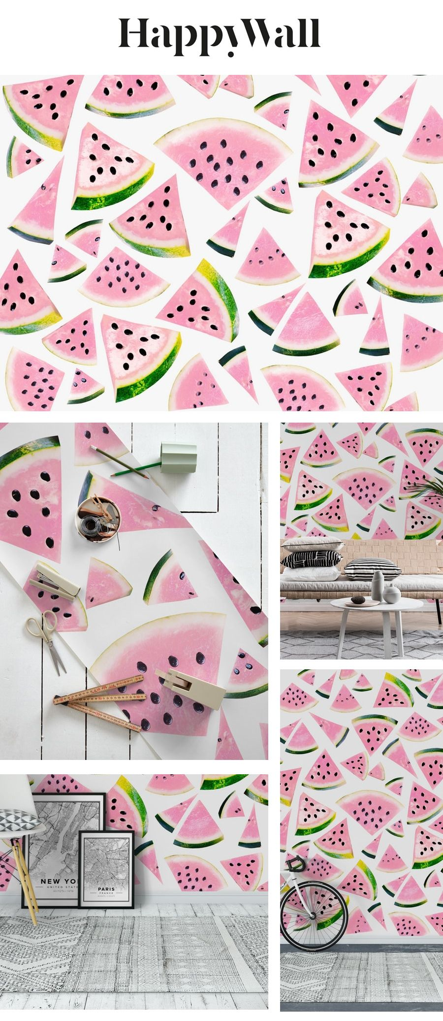 Watermelon Twist Vibes 3 Wall mural in 2020 Wall murals