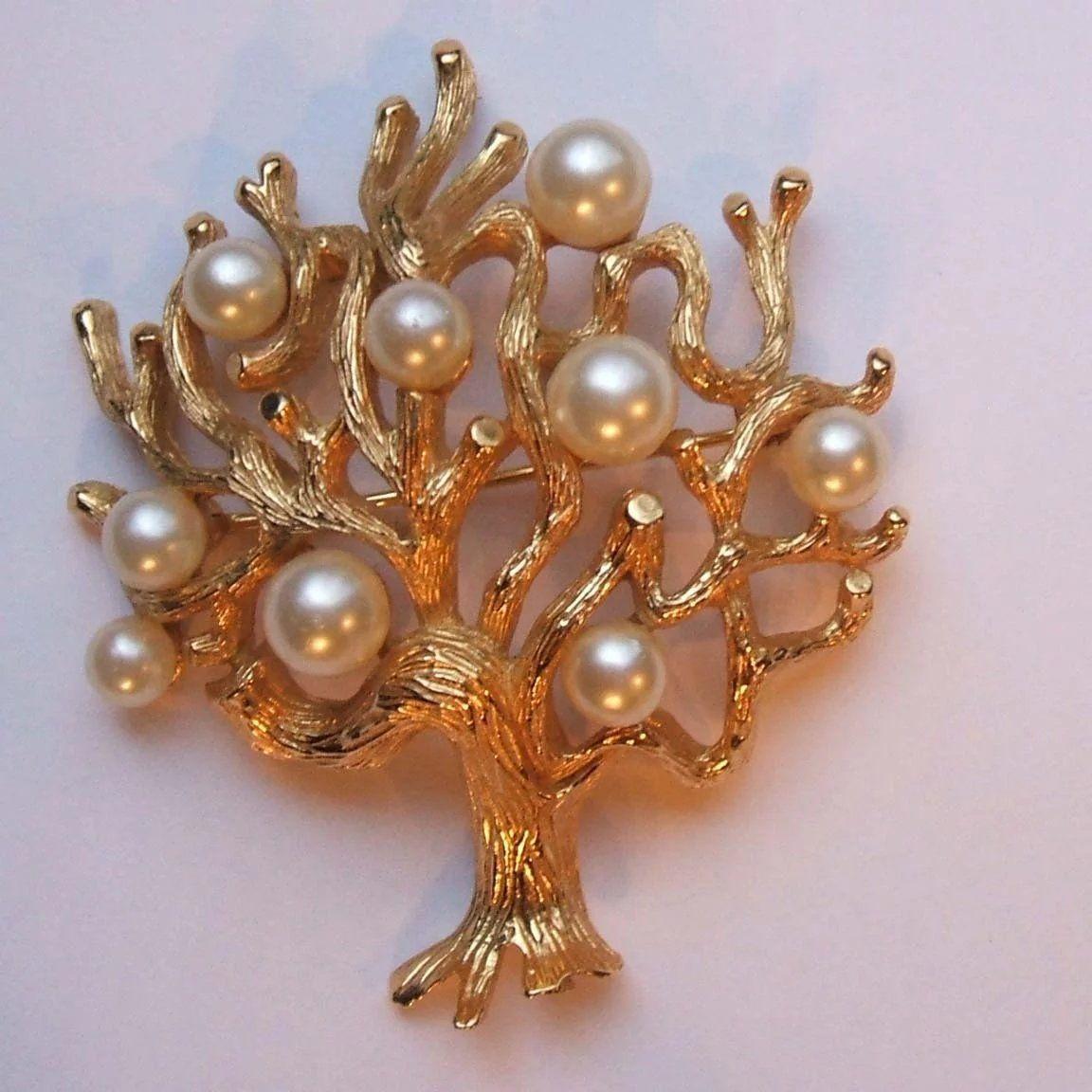 holiday brooch Monet gold brooch vintage brooch women/'s gift gold brooch gold and red brooch designer brooch