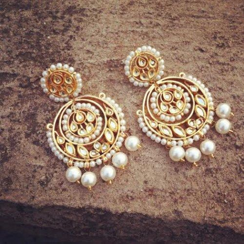 Online Ping For Stunning Pearl Chand Bali