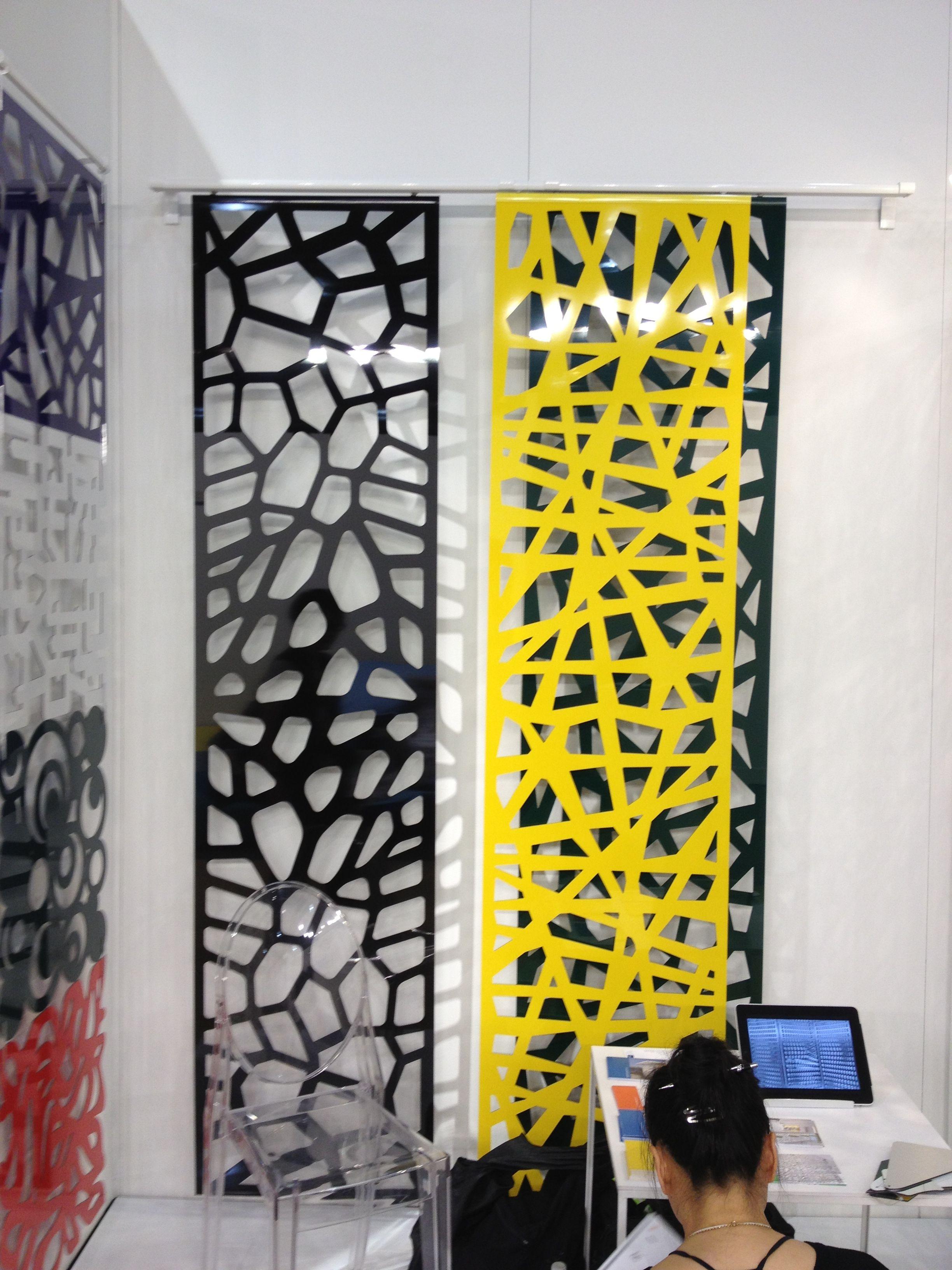 Room divider out of laser cut aluminum panels patterns pinterest deco paravent et for Deco laser maison