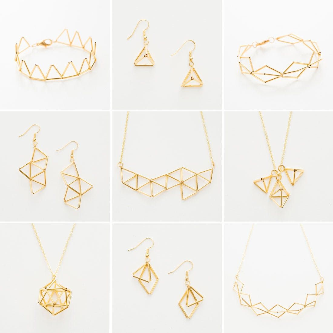 Get geometric with this modern jewelry diy
