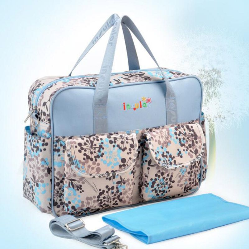 Stylish Allover Animal Large Capacity Diaper Bag with Urine Pad