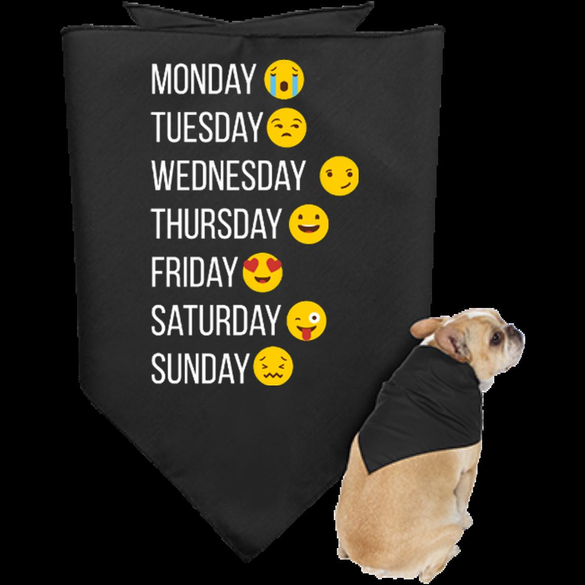 Emoji Make my Week, Doggie Bandana