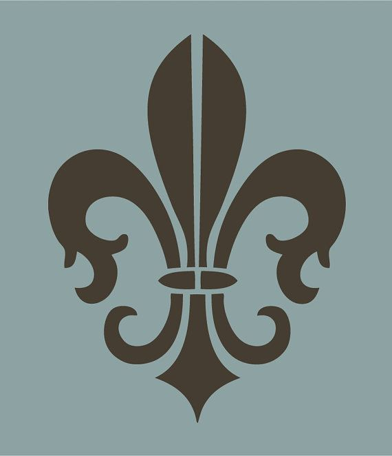 Fleur de lis vector pattern wall art stencil,Strong,Reusable,Recyclable