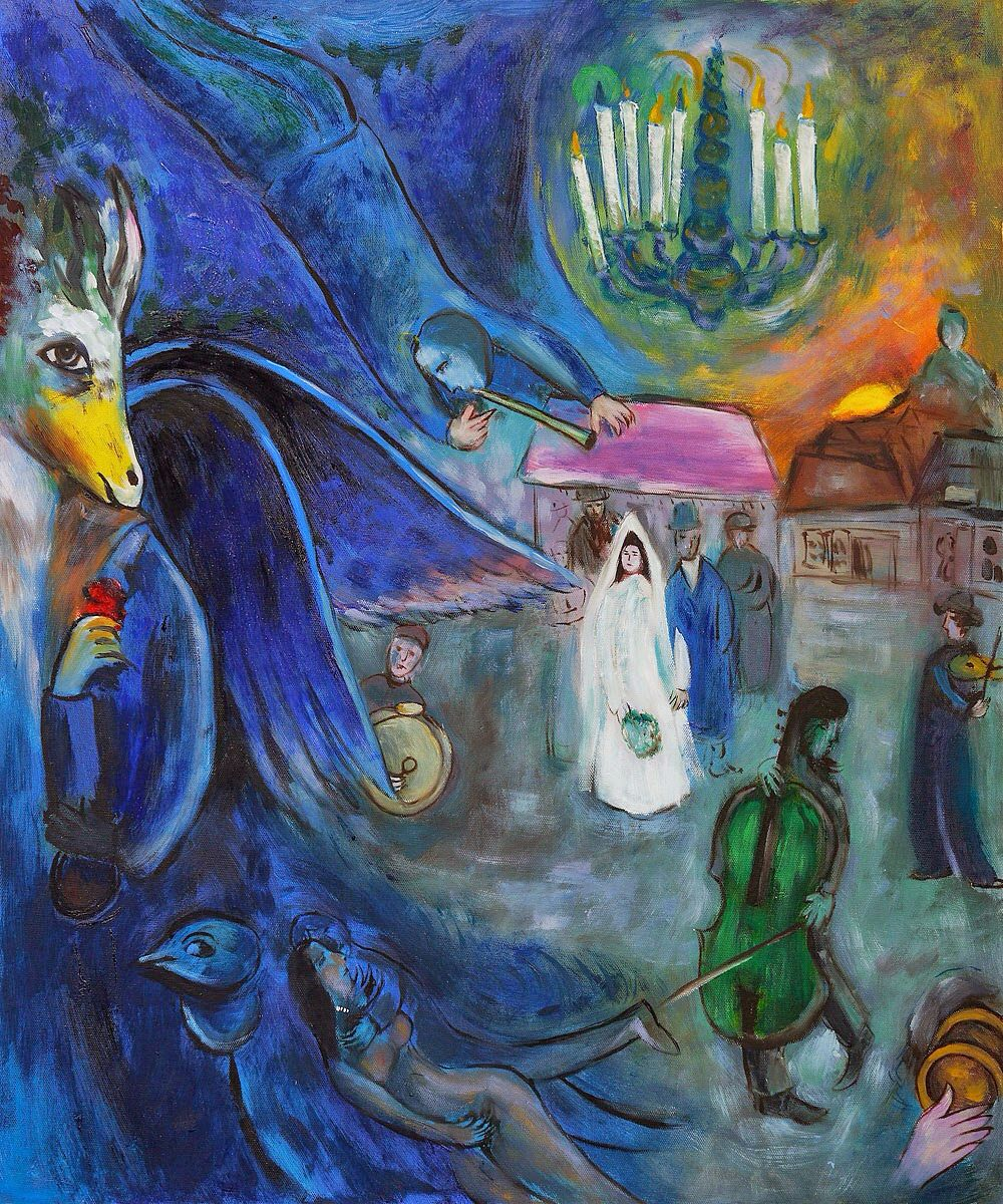 Marc Chagall - The Wedding Candles, 1945 (con immagini) | Dipinti ...