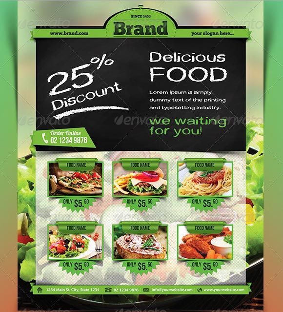 45+ Best Restaurant Flyer Templates Free And Premium To Download | Template
