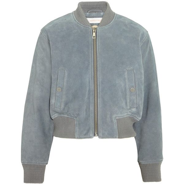 3dd12a78c See by Chloé Suede bomber jacket ($655) ❤ liked on Polyvore ...
