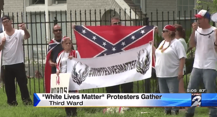 Confederate Flag Waving Houston White Lives Matter Protesters Claim NAACP Is Racist