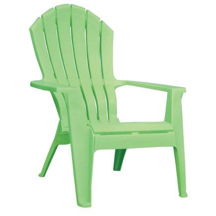 Adams® Adirondack Stacking Chair in Green - Ace Hardware | Garden ...