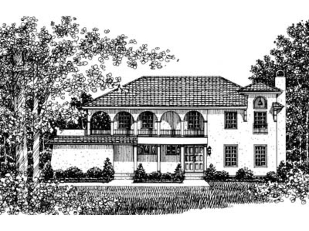 Classical Style House Plan 4 Beds 5 5 Baths 6177 Sq Ft Plan 119 165 Mediterranean Style House Plans Mediterranean House Plans Mediterranean Homes