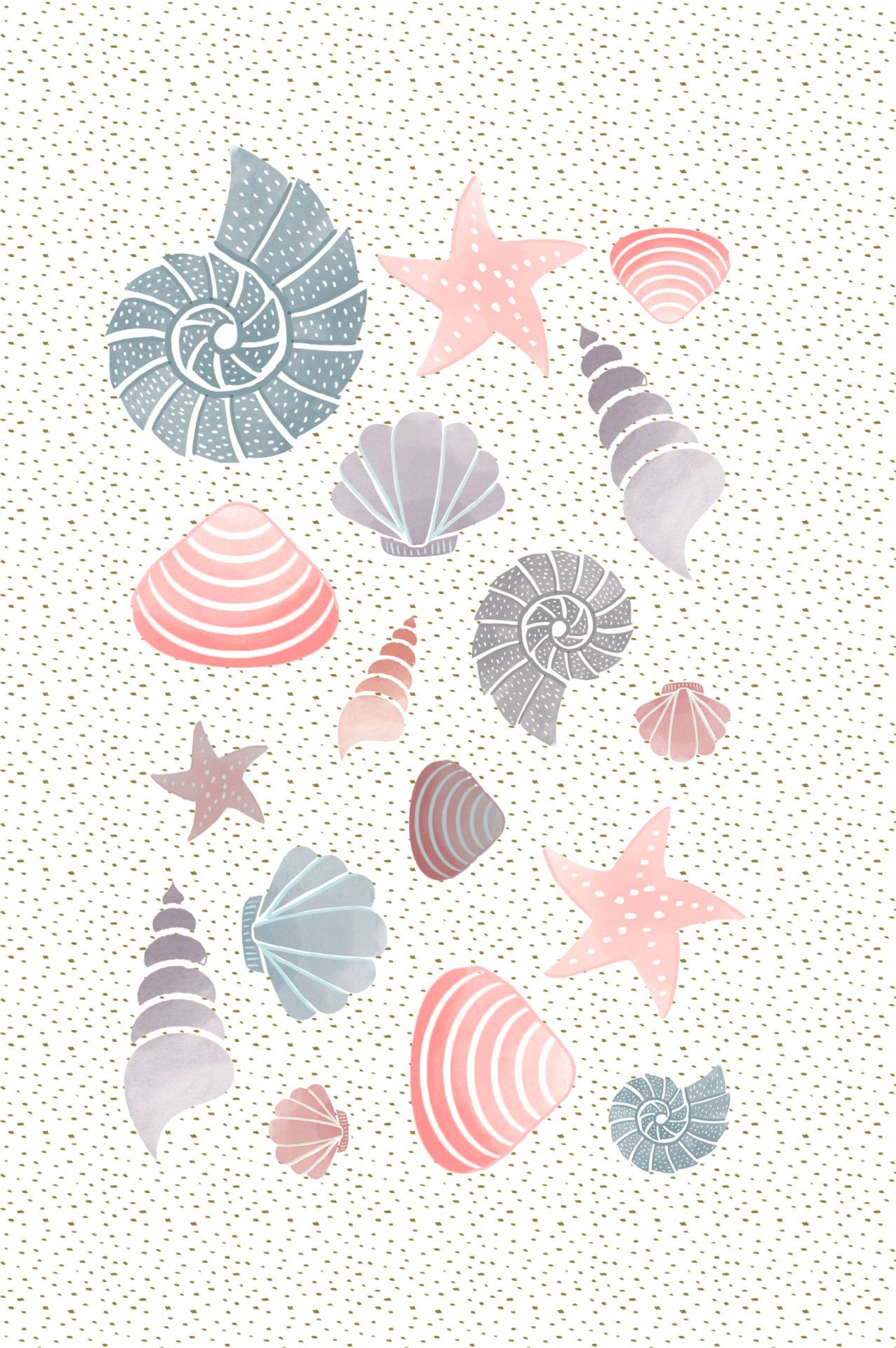 Mermaid iphone wallpaper tumblr - Mariebretin Coquillages Par Marie Bretin Pretty Iphone Wallpapersiphone