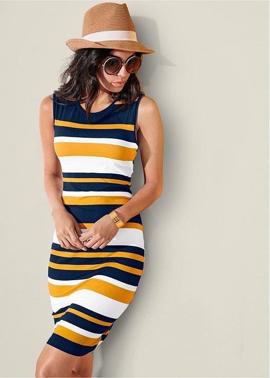 0e43199be312c Striped bodycon dress | Women's style | Bodycon dress, Dresses ...