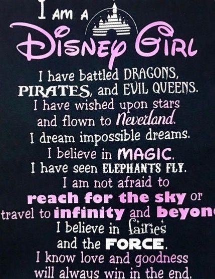 I'm a Disney Girl - #Disney #girl #Iam #dragons #pirates #evilqueens #stars #nerverland #magic #elephantsfly #elephants #reachforthesky #craby