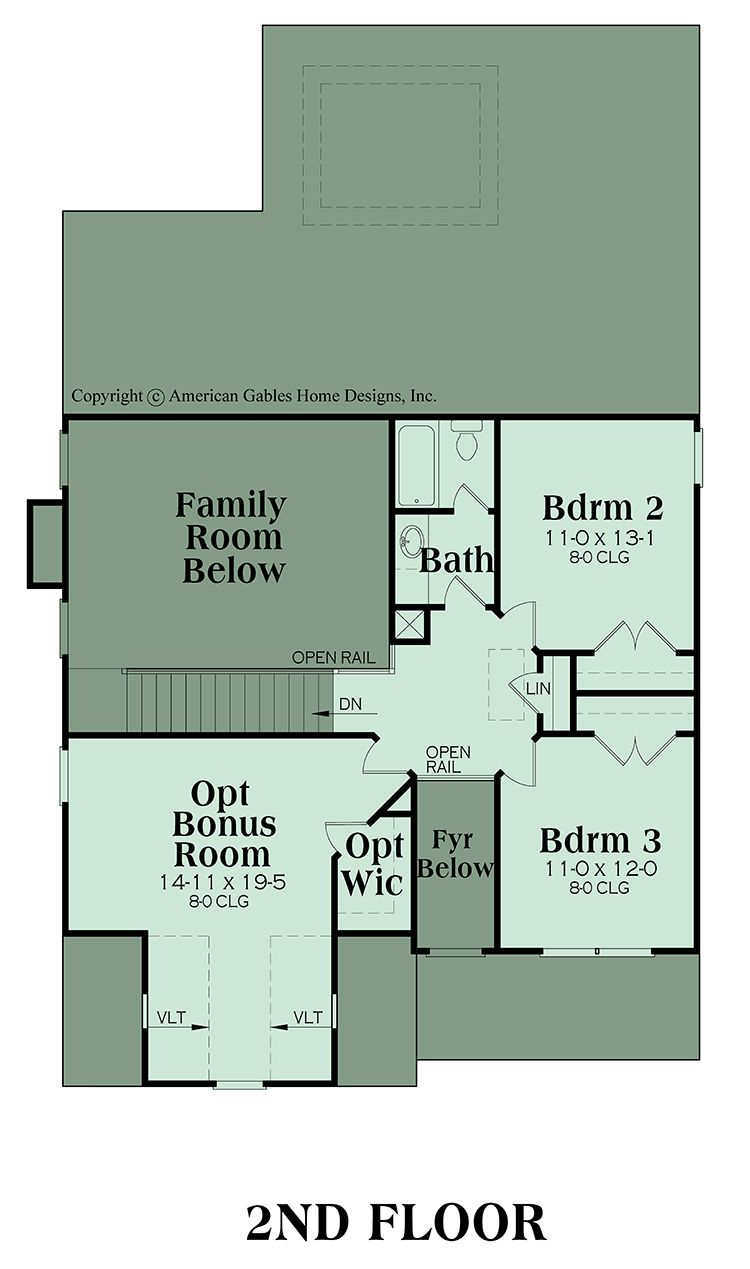 2 Story Traditional House Plan Newcastle Town House Plans Narrow Lot House Plans Narrow House Plans