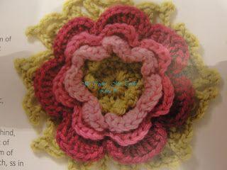 كروشيه وردة الطبقات Crochet