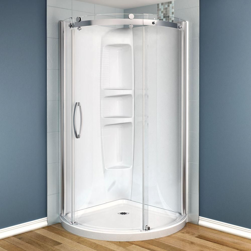 Maax Olympia 36 In X 36 In X 78 In Acrylic Corner Round Shower