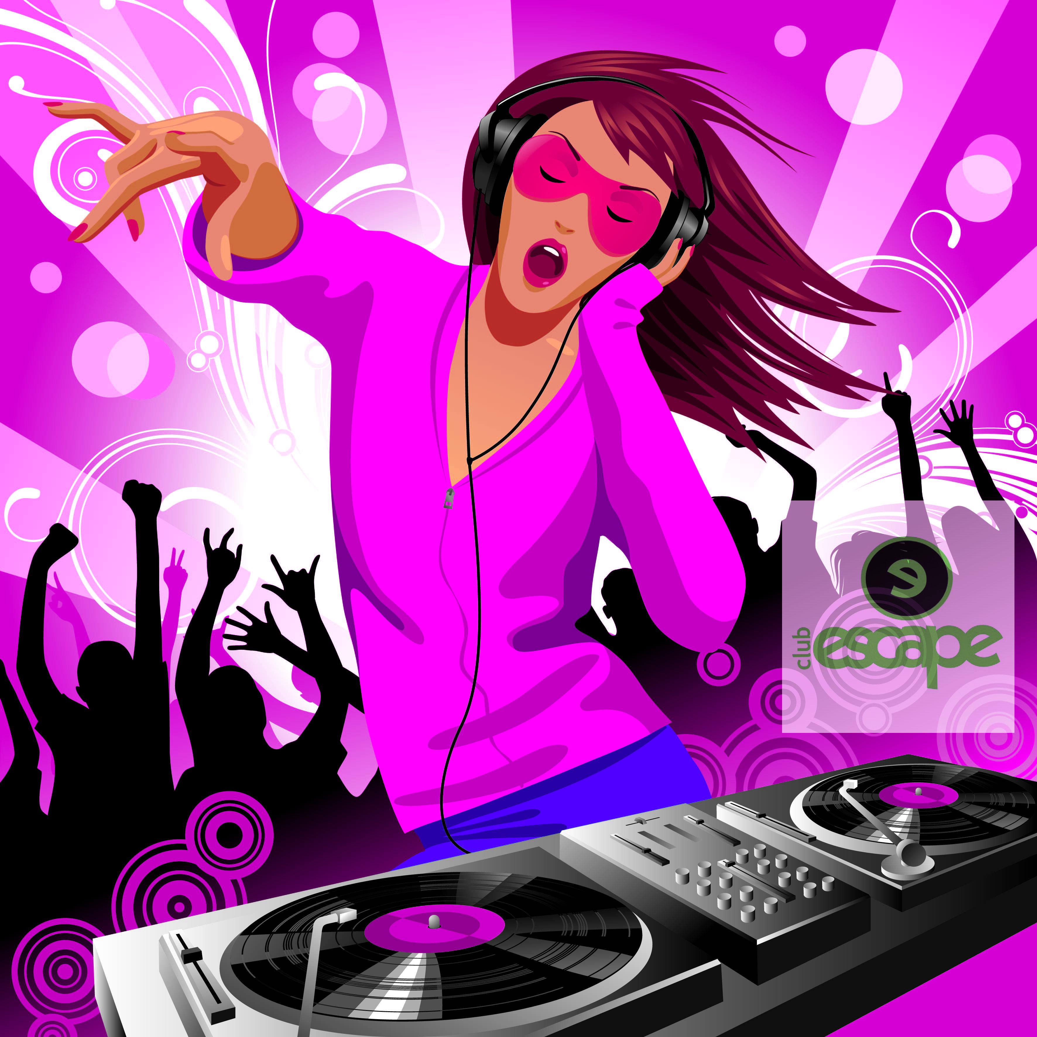 dj party and disco at clubescape