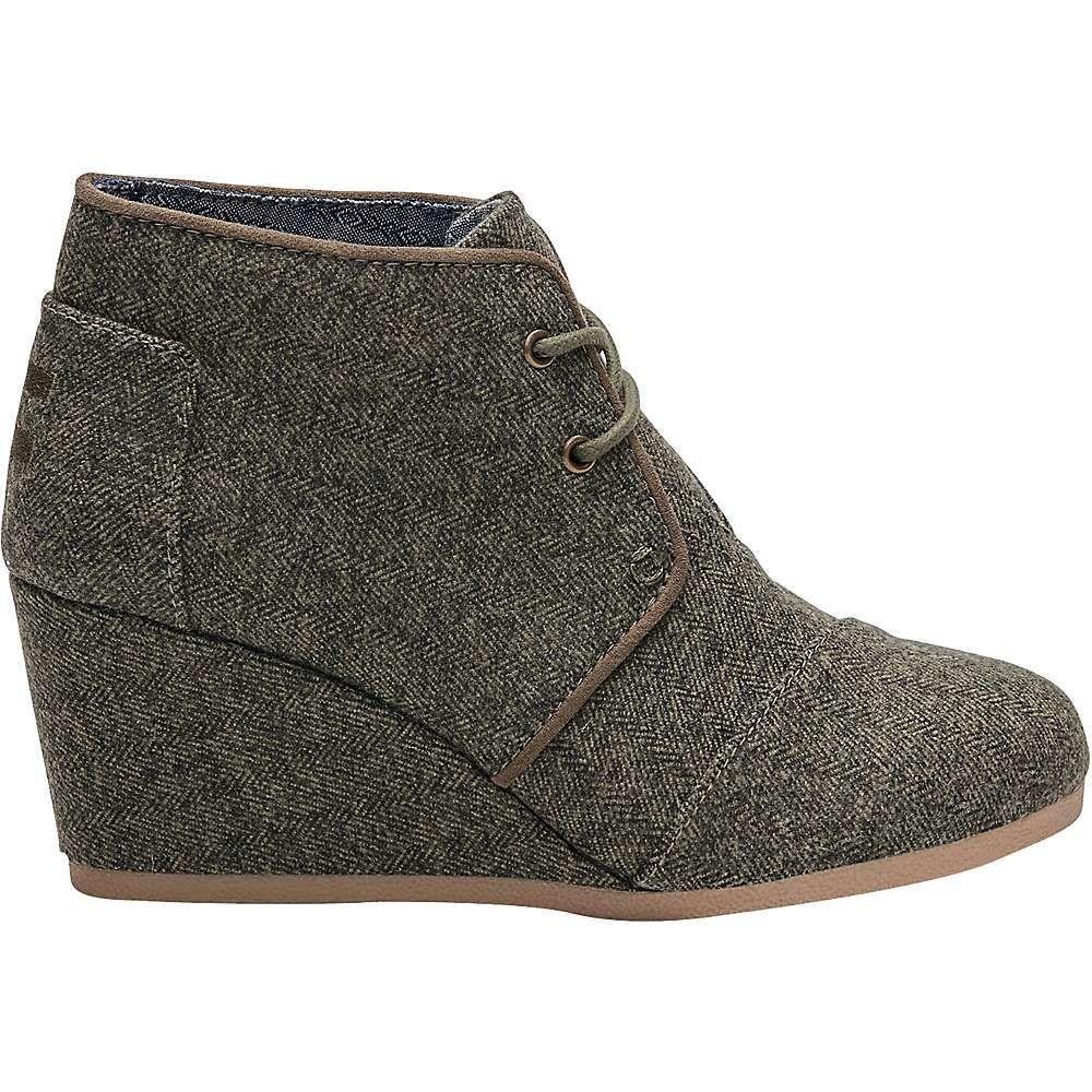 063a3a2e17ae TOMS Women s Desert Wedge Boot - 8.5 - Olive Herringbone