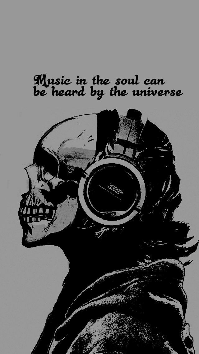 Skull Music Iphone Wallpaper Hd Music In The Soul Can Be Heard By The Universe Skull Wallpaper Iphone Emo Wallpaper Skull Wallpaper