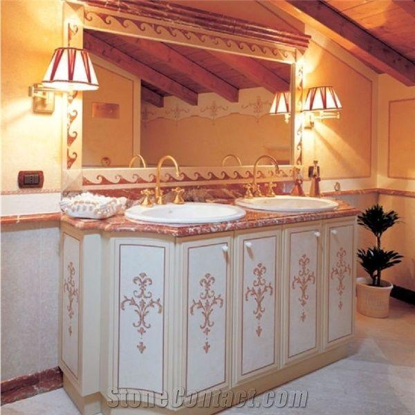 Rosso Francia Classico Red Marble Bathroom Countertops