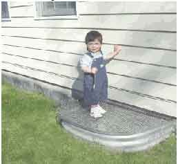 small kids love to play outside window well covers prevent them from falling into the