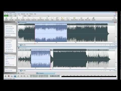 wavepad remove background music
