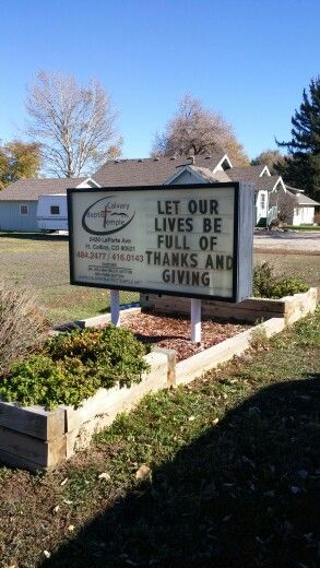 Thanksgiving Church Sign Message Let Our Lives Be Full Of