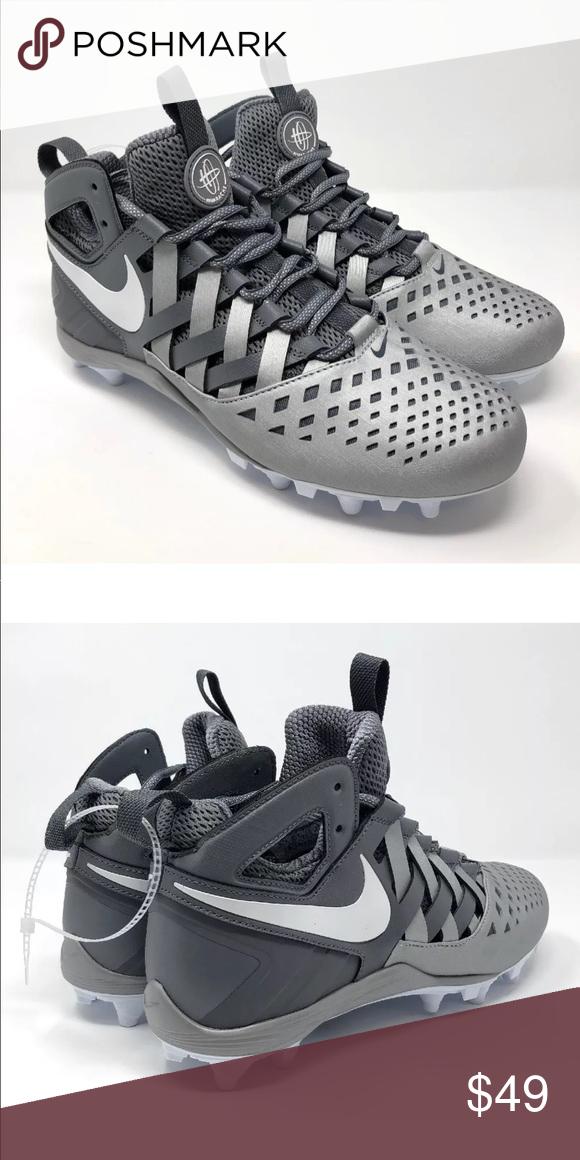 2823d15ebea7 Nike Huarache V5 Lacrosse Football Cleats Nike Huarache V 5 Lax Lacrosse  Football Cleats White Cool Grey Sz 9.5 807142 010 Nike Shoes Athletic Shoes