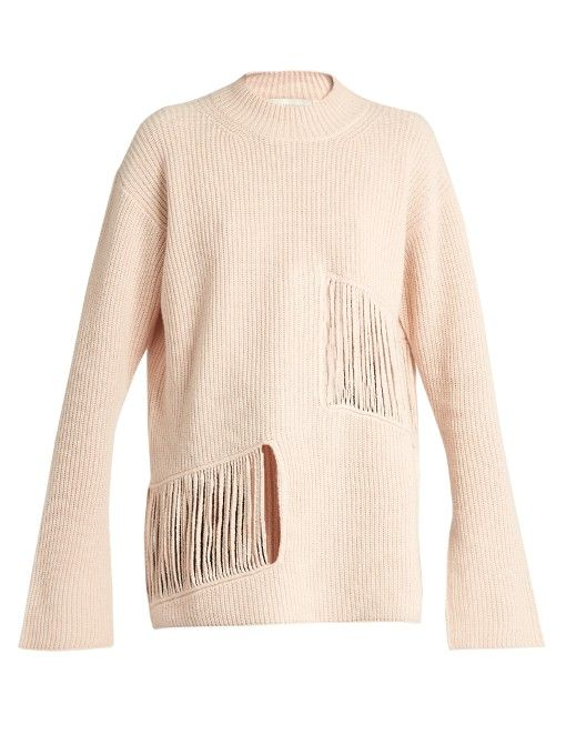 STELLA MCCARTNEY Shredded-Panels Oversized Sweater ...