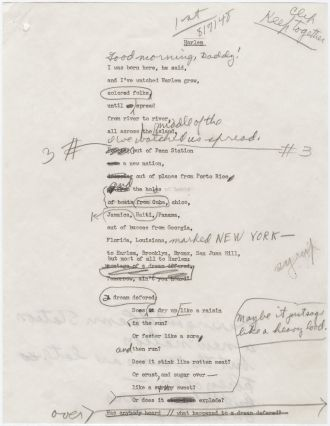 langston hughes typescript draft manuscript corrections of langston hughes typescript draft manuscript corrections of montage of a dream