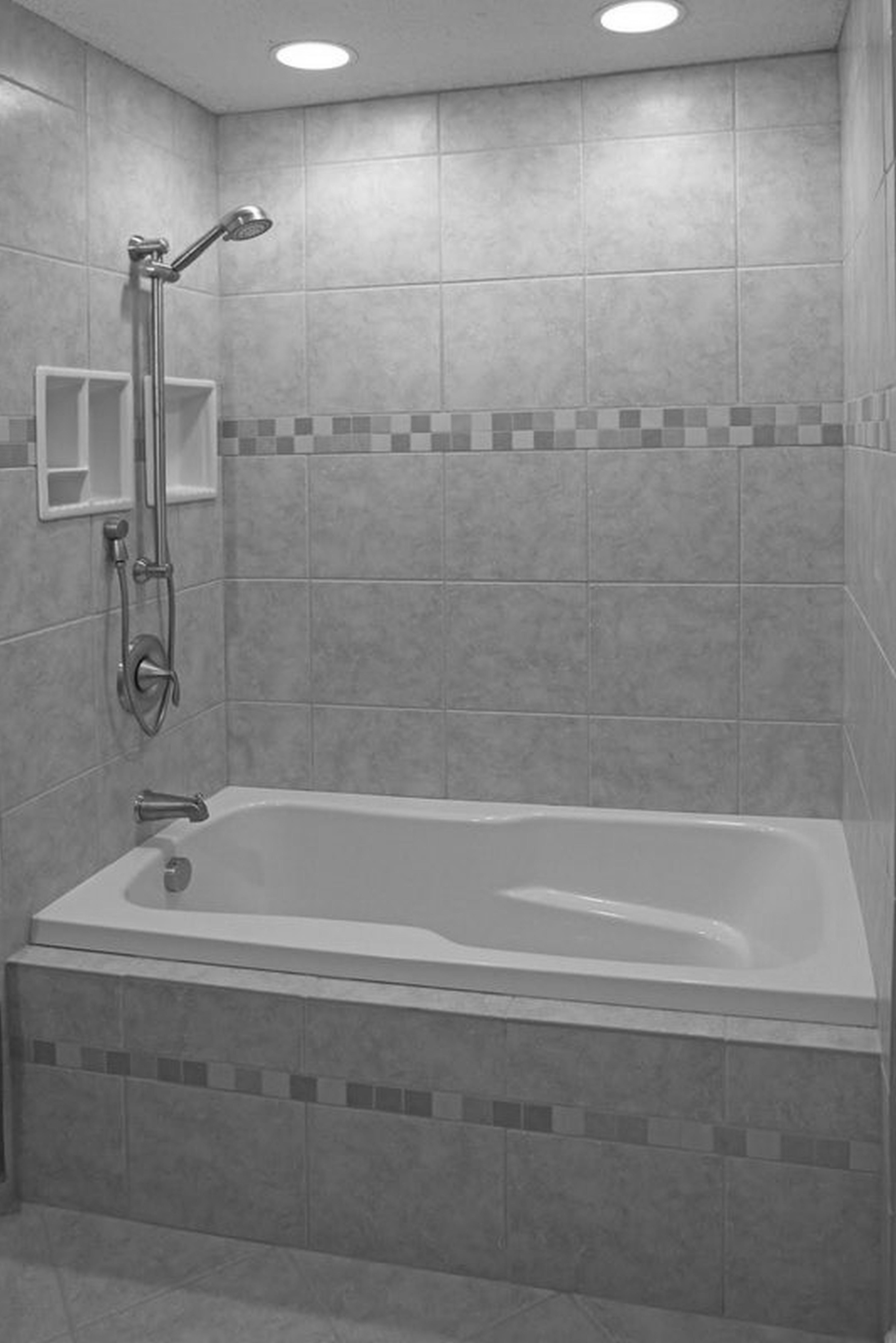 Like The Gable Tile Work And The Built In Storage Bathroom Tub Shower Tile Bathroom Ceramic Tile Bathroom Shower