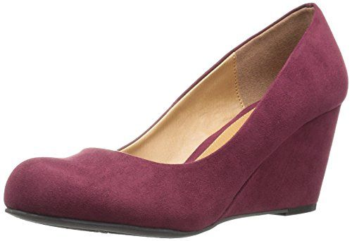 7303c0f3af Cl by Chinese Laundry Womens Nima Wedge Pump Merlot Super Suede 55 M US ***  Continue to the product at the image link. (This is an affiliate link)