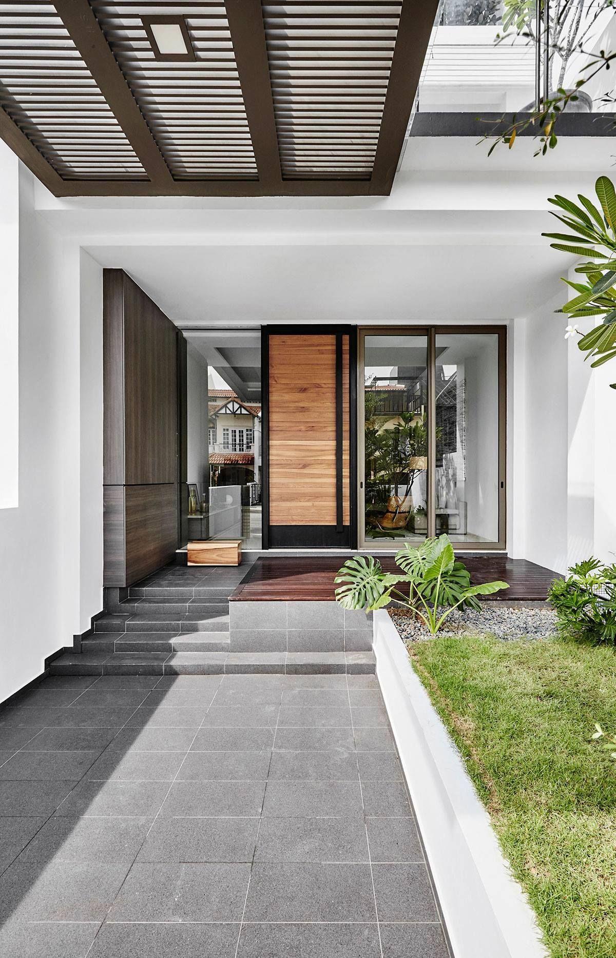 Porch Ideas For Houses Thiết Kế Singapore Cửa đen