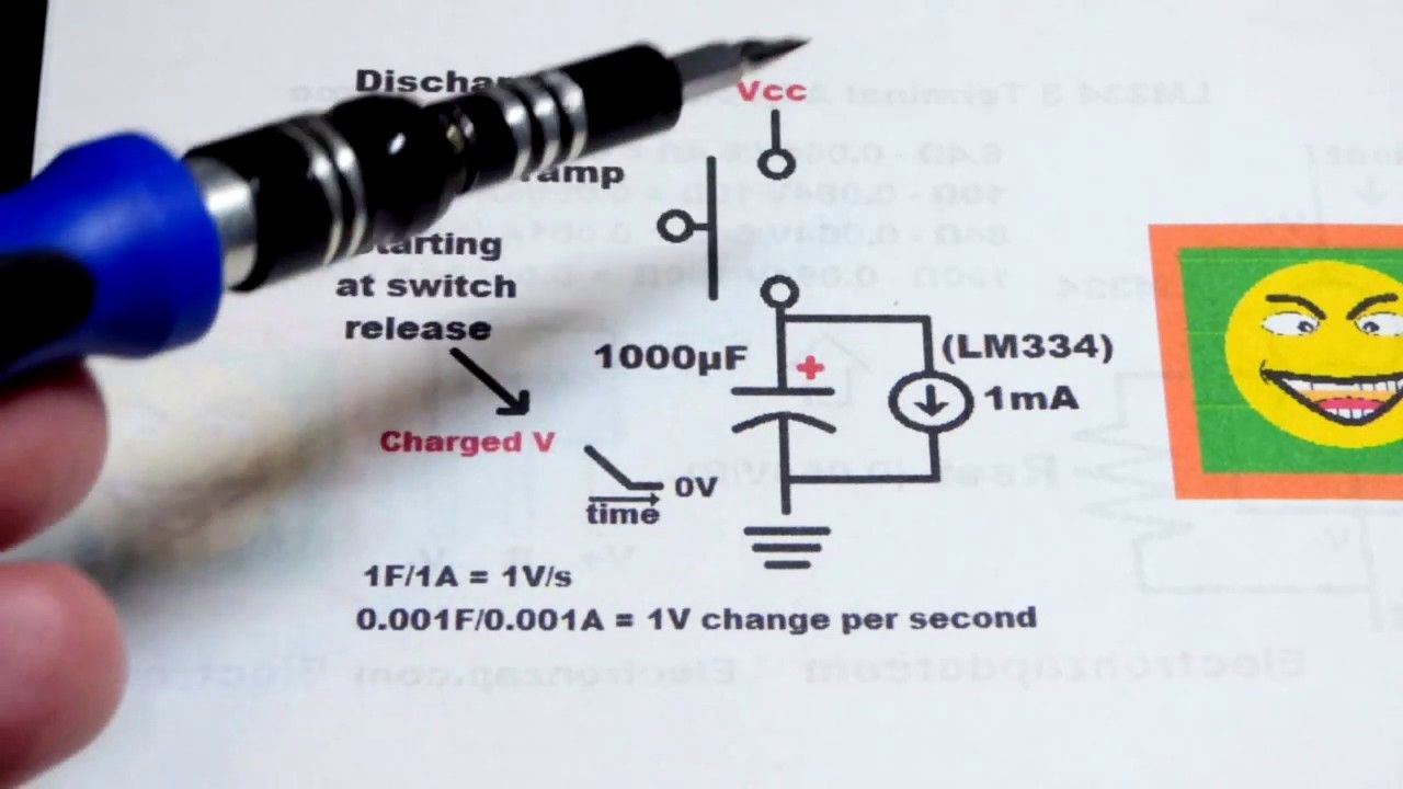 Discharging Capacitor Voltage Ramp Circuit Using Lm334 Three Terminal Ad Current Source Capacitor Circuit