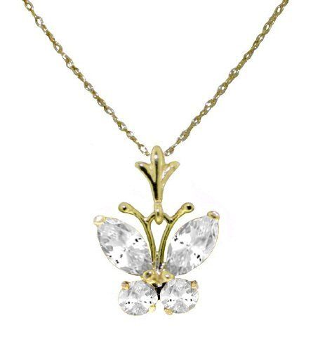 Cubic zirconia cz butterfly 14k gold pendant necklace her choice cubic zirconia cz butterfly 14k gold pendant necklace her choice jewelry 18600 aloadofball Image collections