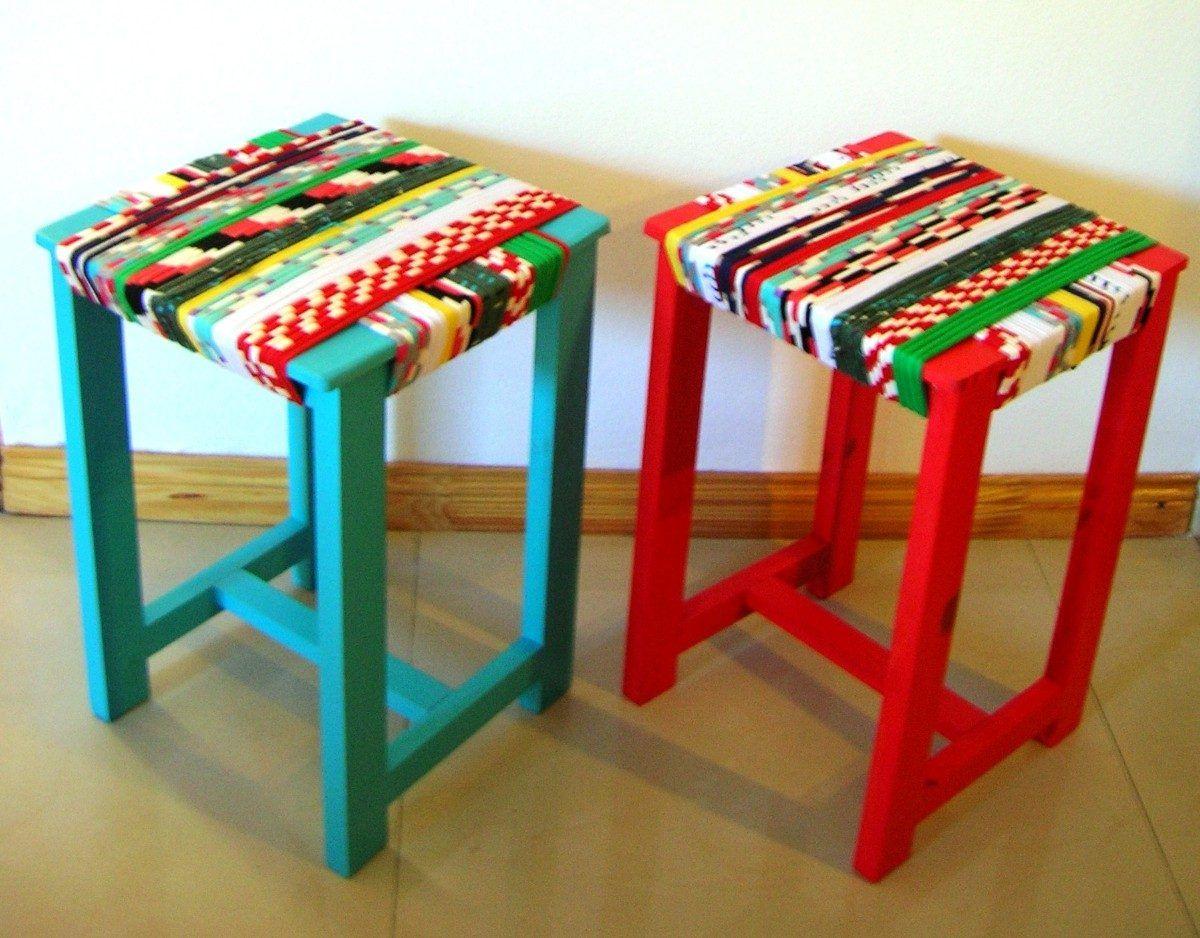 Sedie Decorate Fai Da Te : Banquetas d pino para mesa de cocina muebles pinterest sedie