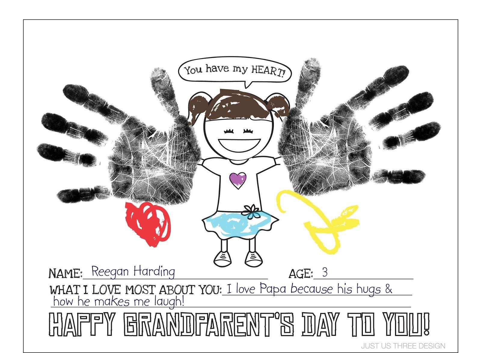 Harding Happenings Grandparents Day Printable