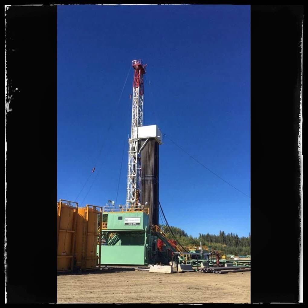 Sampalaschuk Pd Rig 379 Drilling In Northern Bc Oilfield Space Needle Landmarks