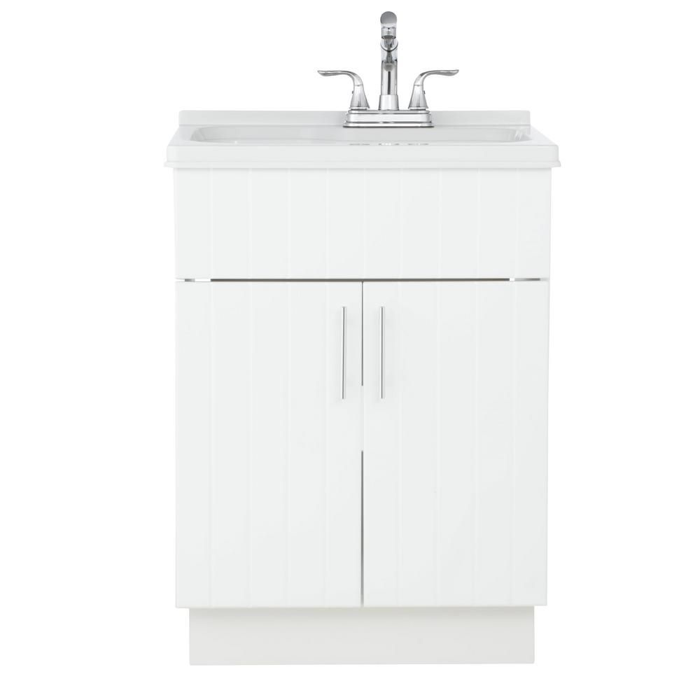 Shaker Laundry Cabinet Kit With Pull Out Faucet Ql058 With Images
