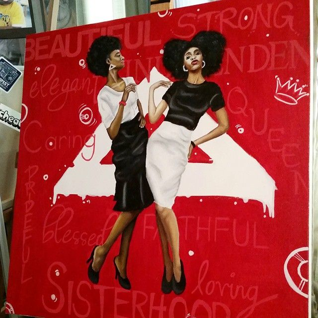 Delta Sigma Theta Art By David Marion For The Love Of Fortitude