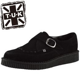 Tuk Black Suede Creeper Shoe With