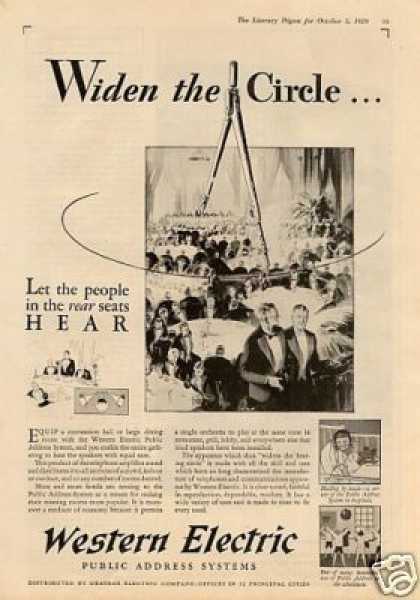 Western Electric Ad Widen The Circle 1929