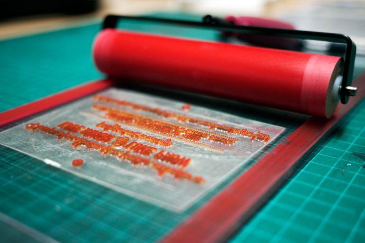 Diy letterpress the wedding planner pinterest letterpresses diy letterpress solutioingenieria Images