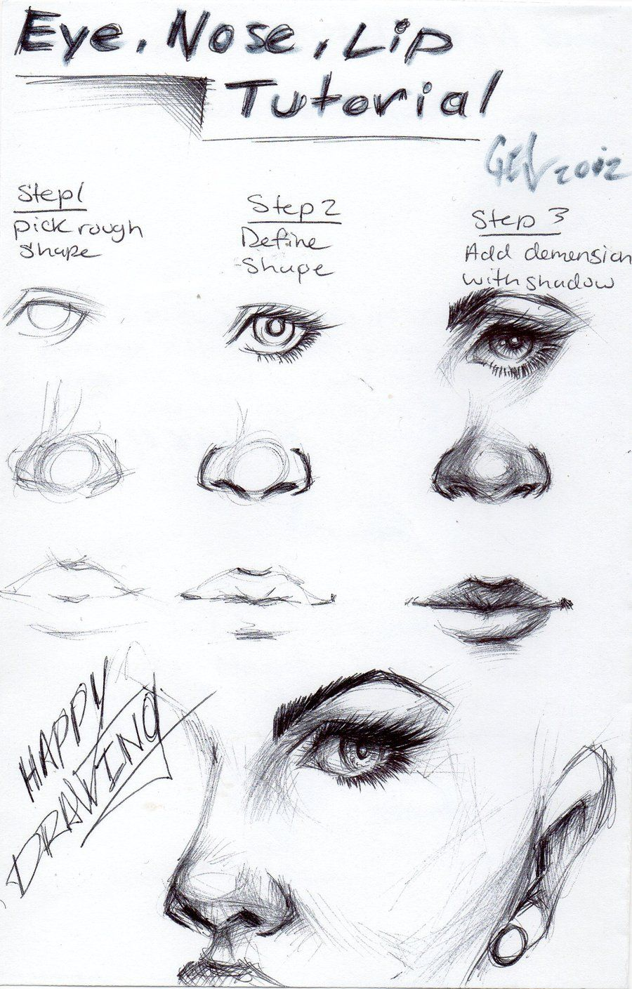 how to draw cute button noses in 5 easy steps super easy art