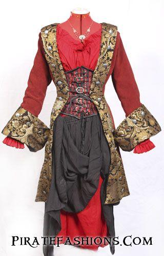 Women's Pirate Coat by Pirate Fashions.Com
