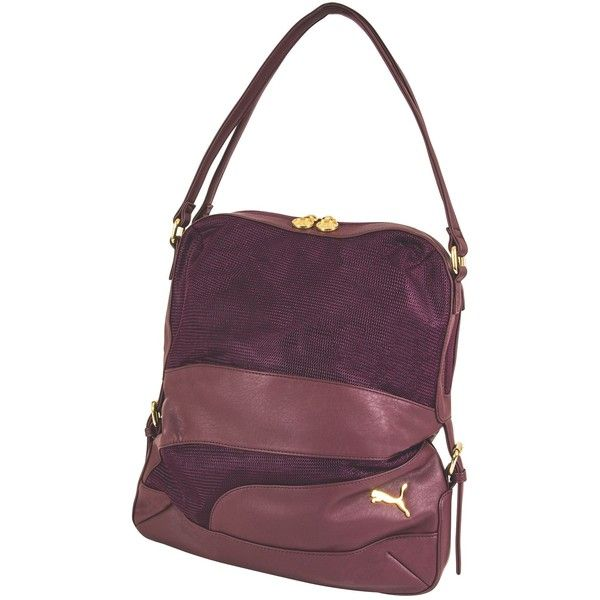 Puma Remesh Carryall Bag ($50) ❤ liked on Polyvore featuring bags, burgundy,