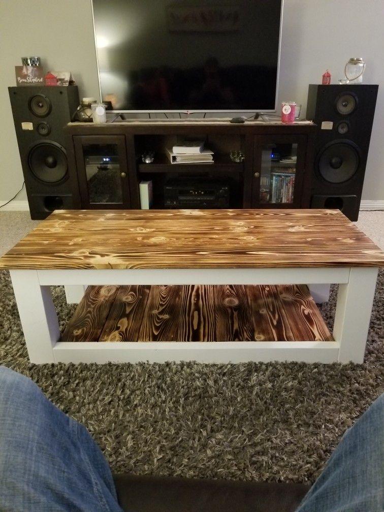Burnt wood coffee table coffee table wood burnt coffee