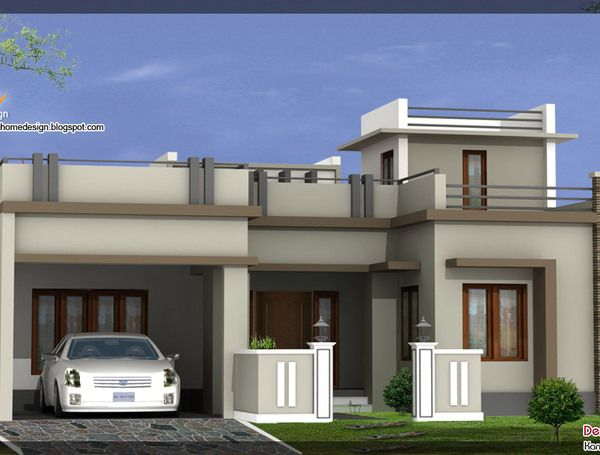 Front Elevation Of House Software : Front elevation single floor house plan s a fc d c