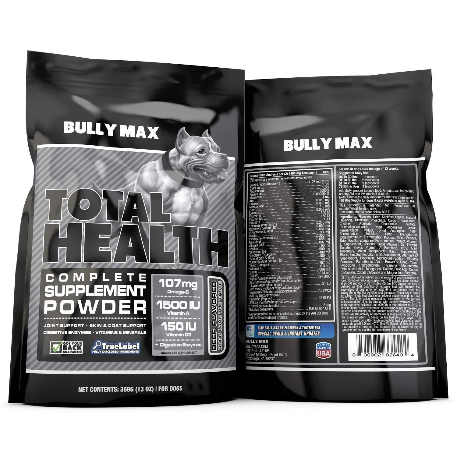 Bully max total health supplement 60 day supply