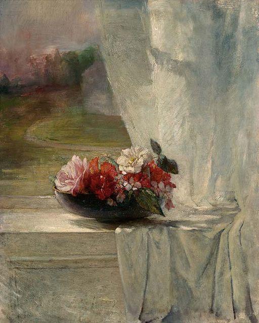 Flowers on a Window Ledge, John La Farge
